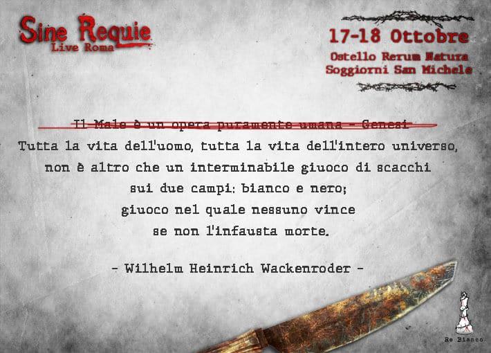 Sine Requie Live Roma – Capitolo I, Parte 5 – Ad Ultimum Miles